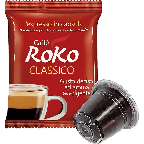 Classic coffee nespresso capsules