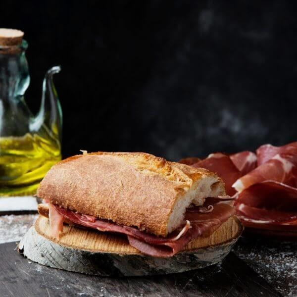 Capocollo sandwich with caciocavallo